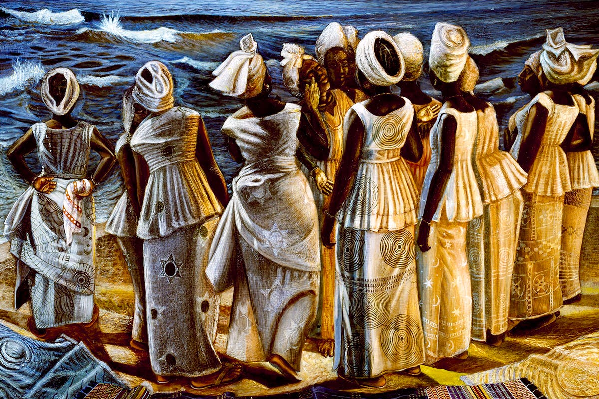john-Biggers-the-stream-crosses-the-path