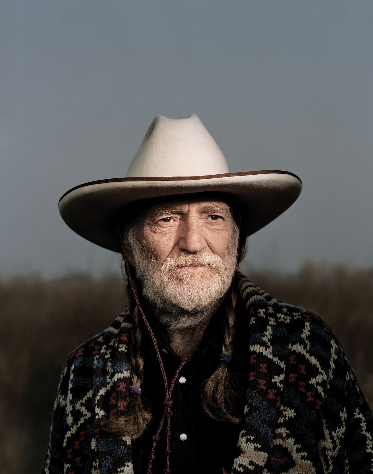 Willie Nelson outside of Buck Owens's Crystal Palace, in Bakersfield, California, in 1998.
