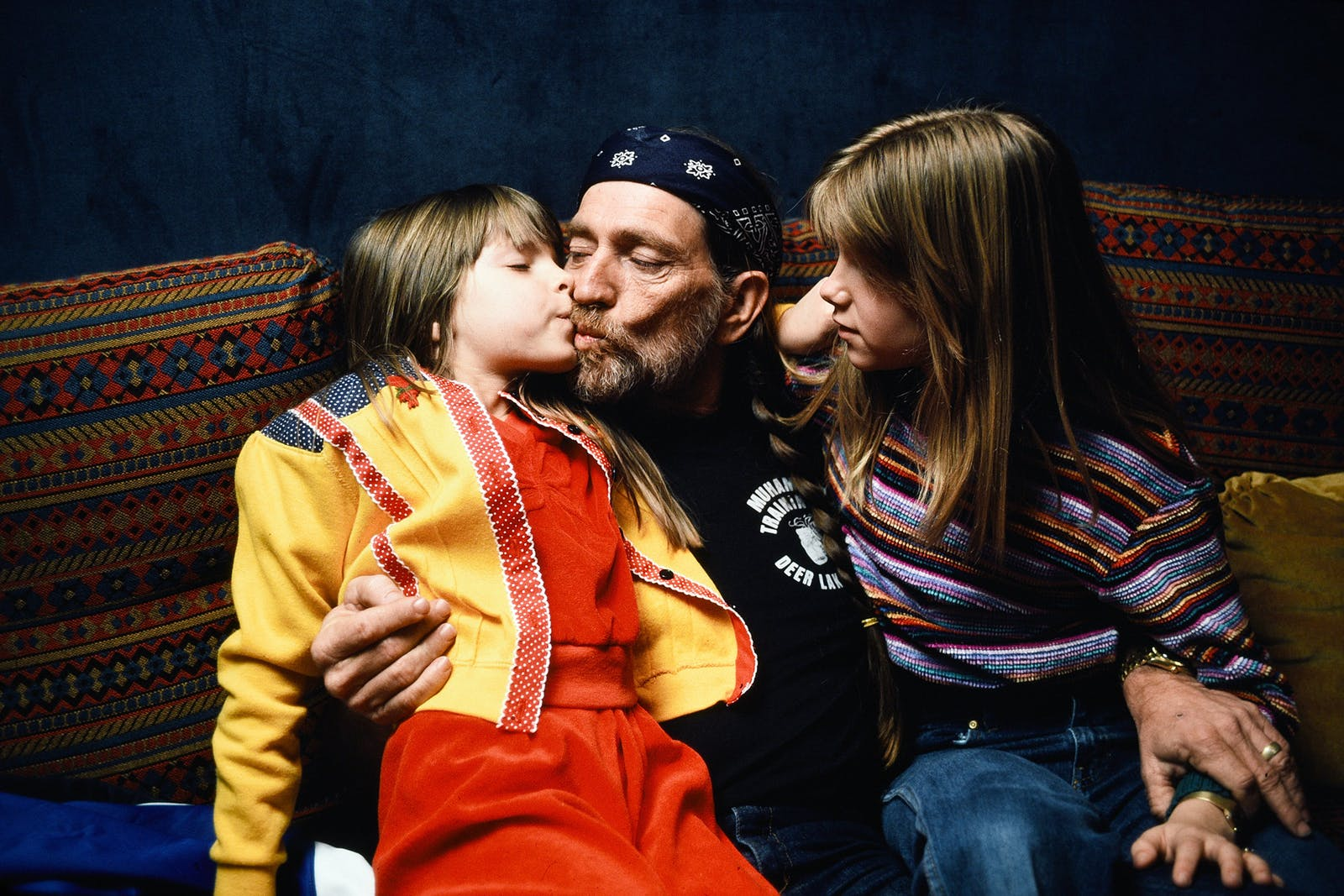 Willie with his daughters Paula Carlene and Amy Lee in Las Vegas on June 18, 1980.