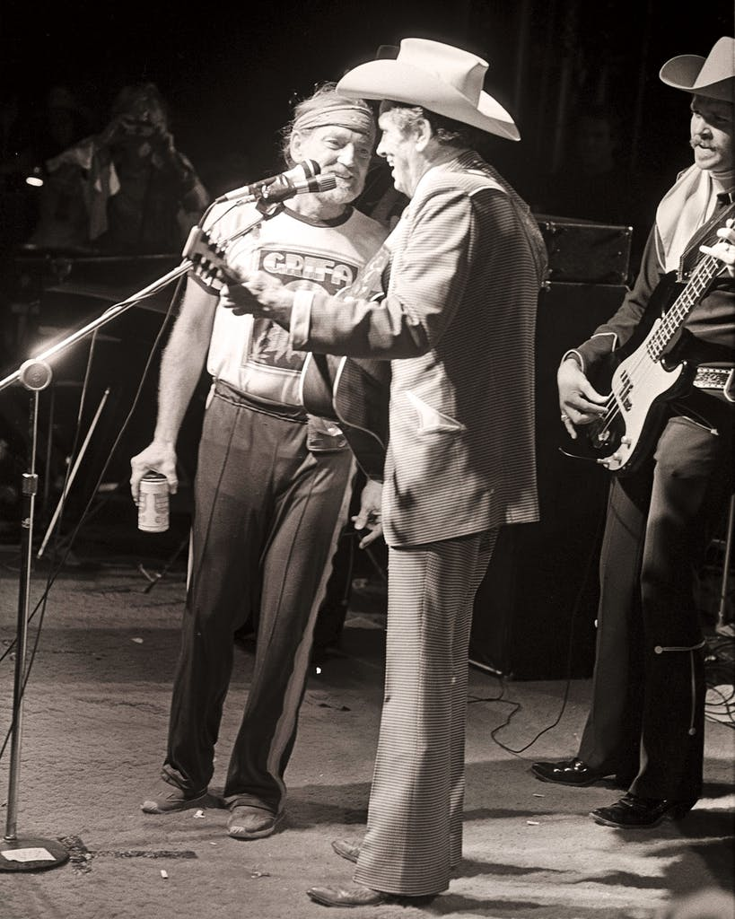 Willie and Ernest Tubb perform at the 1979 Fourth of July Picnic.