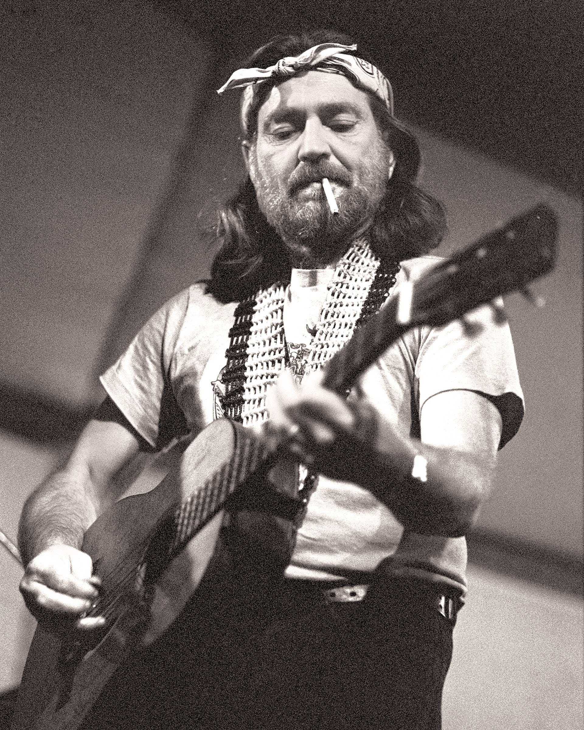Willie at the Great Southeast Music Hall, in Atlanta, on October 27, 1975.