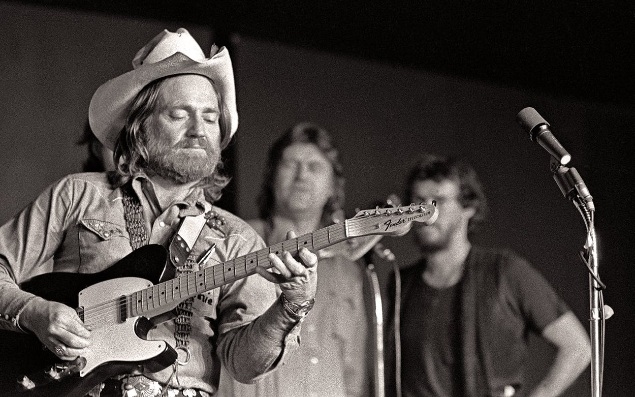 Willie Nelson performs in New York City circa 1976.