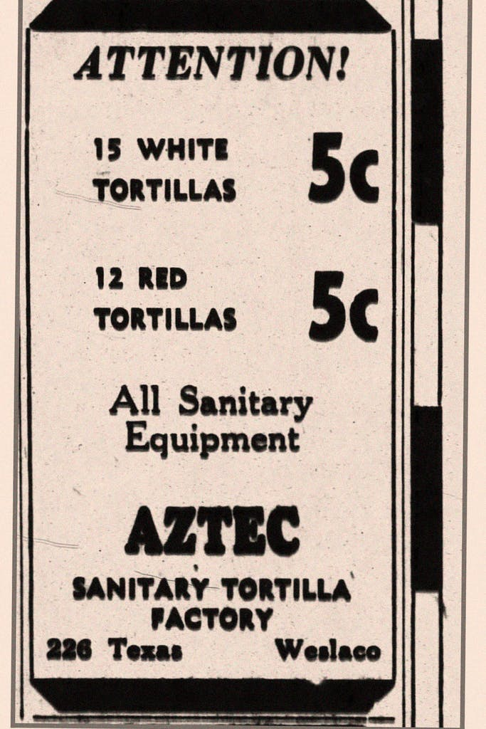 Sanitary_Tortillas_Ad_Original_Location_1932