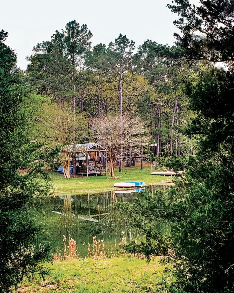 The pond at the Honey Hole, in Point Blank.
