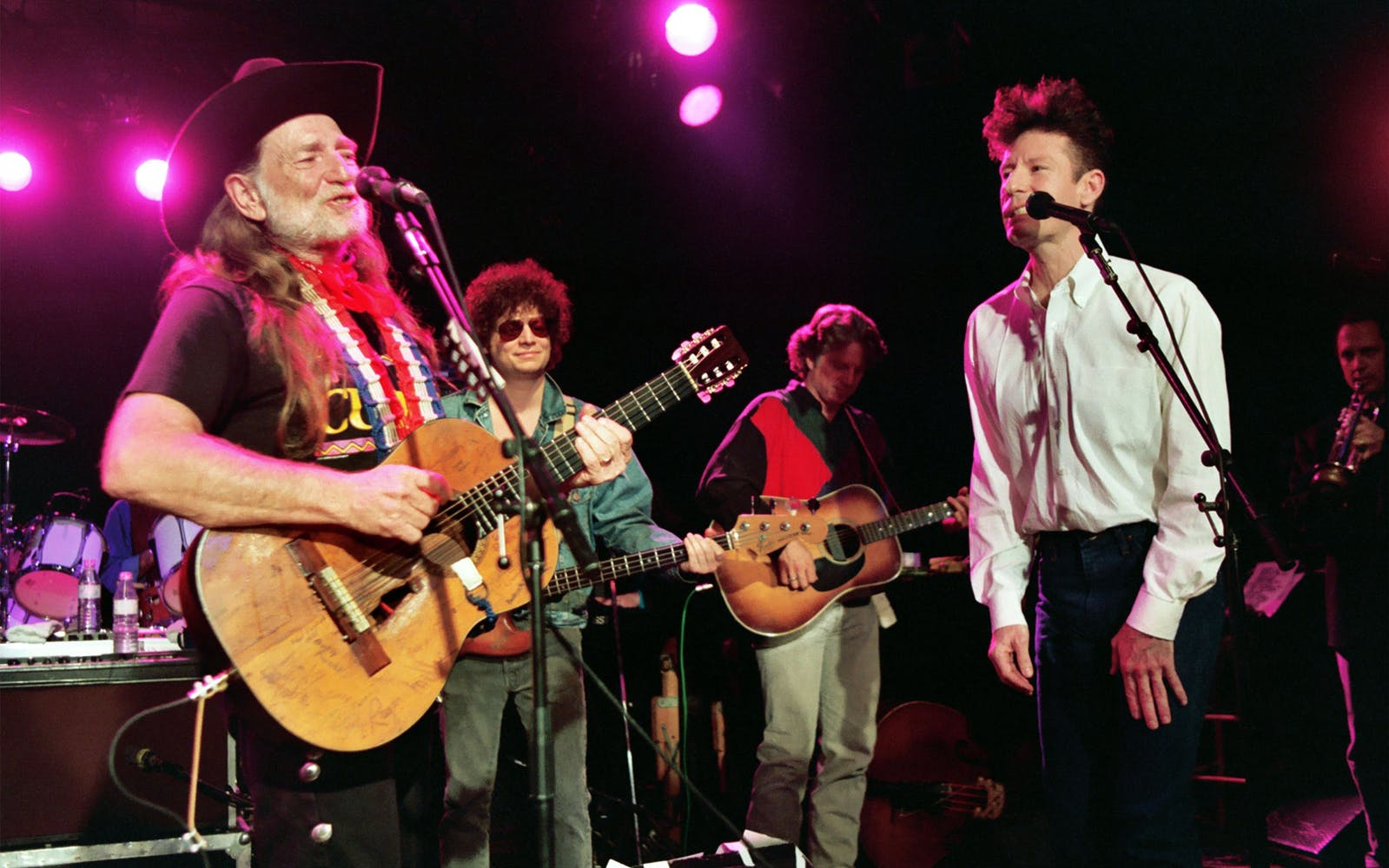 Willie Nelson, Don Was and Lyle Lovett during VH1's Willie Nelson and Friends at The Roxy in Hollywood, CA on July 27, 1993.