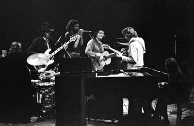 Willie Nelson and his group: country pro with a touch of rock.