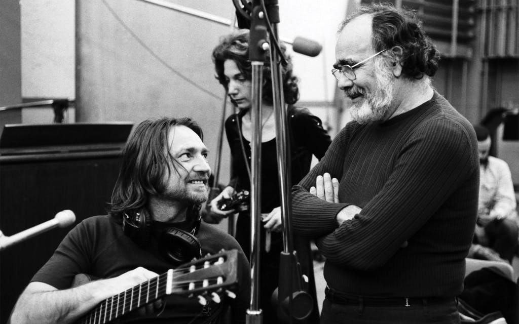 Willie and producer Jerry Wexler during the Shotgun Willie session in New York City, February 1973.