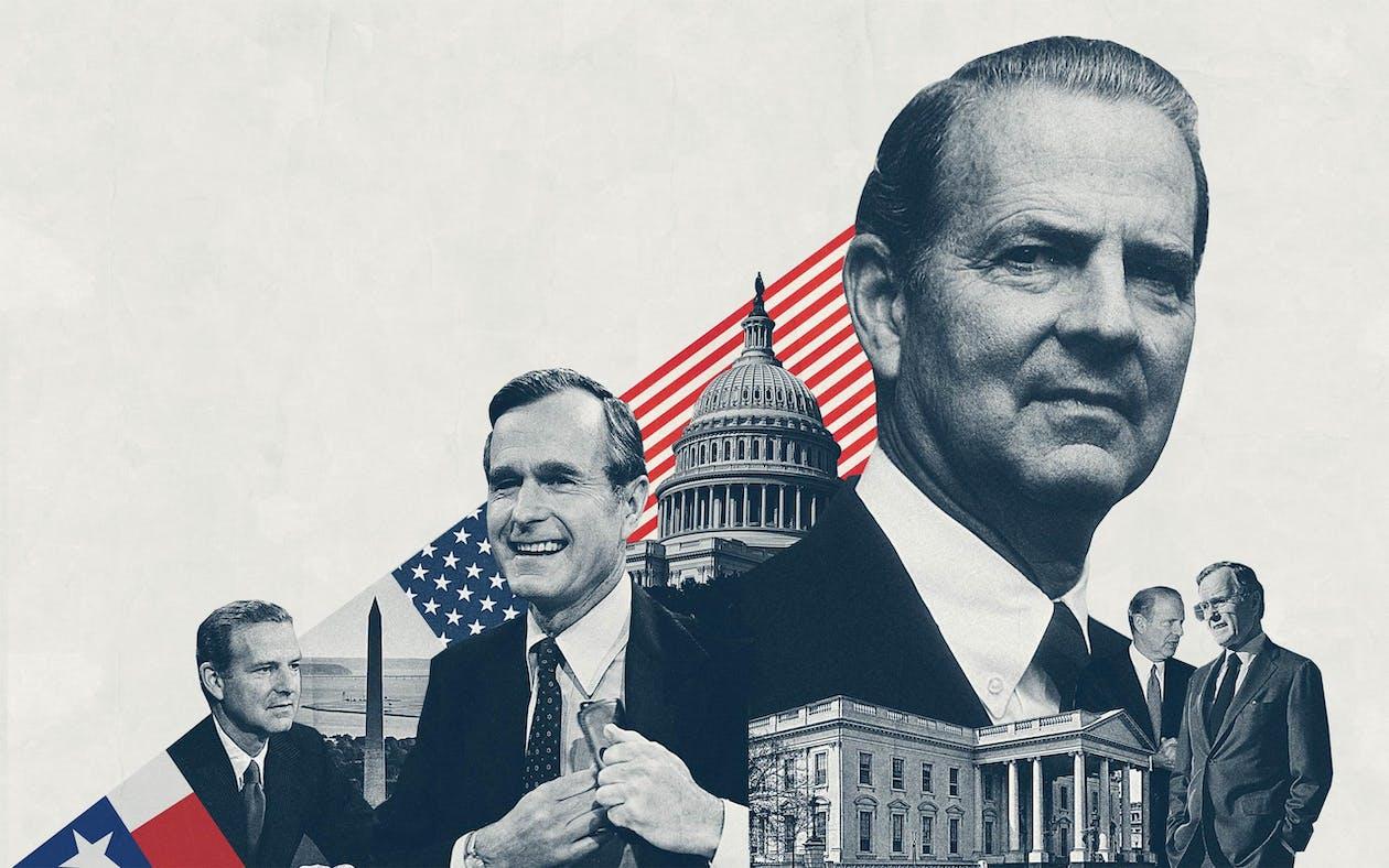 Illustration of James Baker and George H.W. Bush