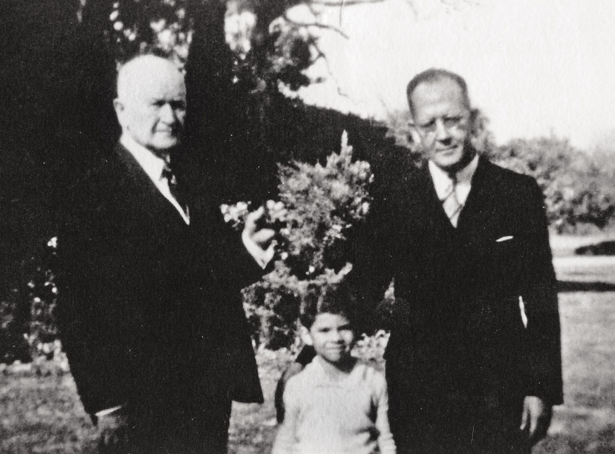 James Baker with his father and grandfather