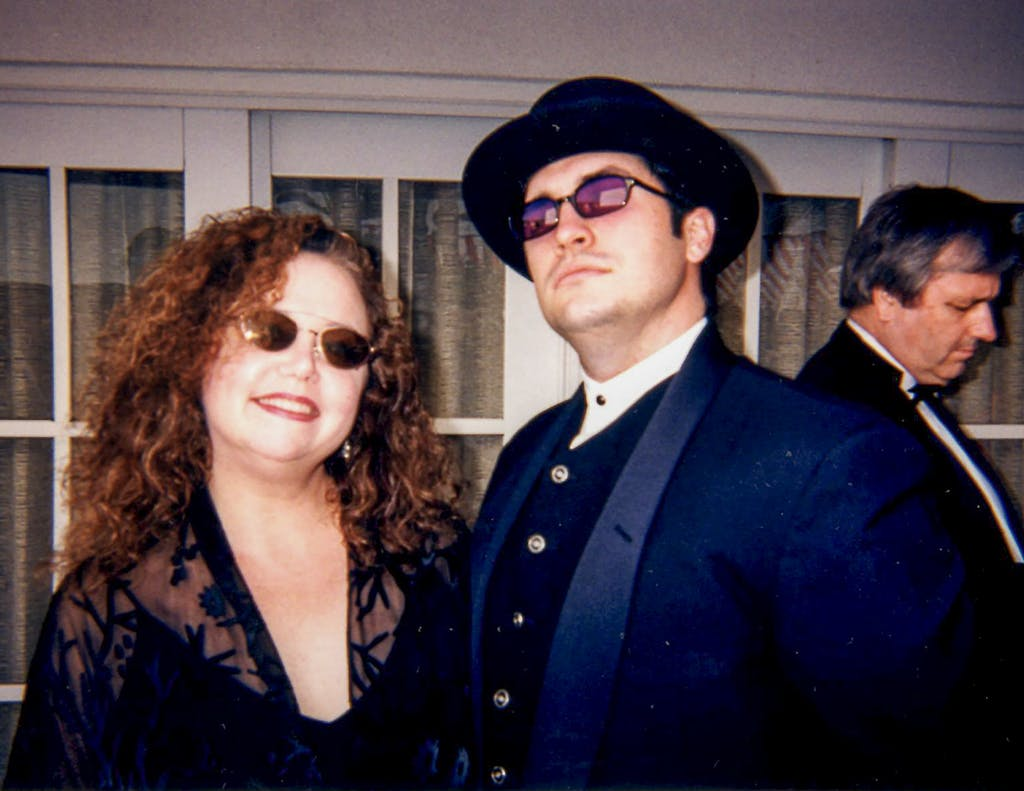 Betty Buckley and Larry Brantley at the Emmy Awards in 1998 in Los Angeles