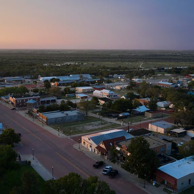 aerial of canadian, texas