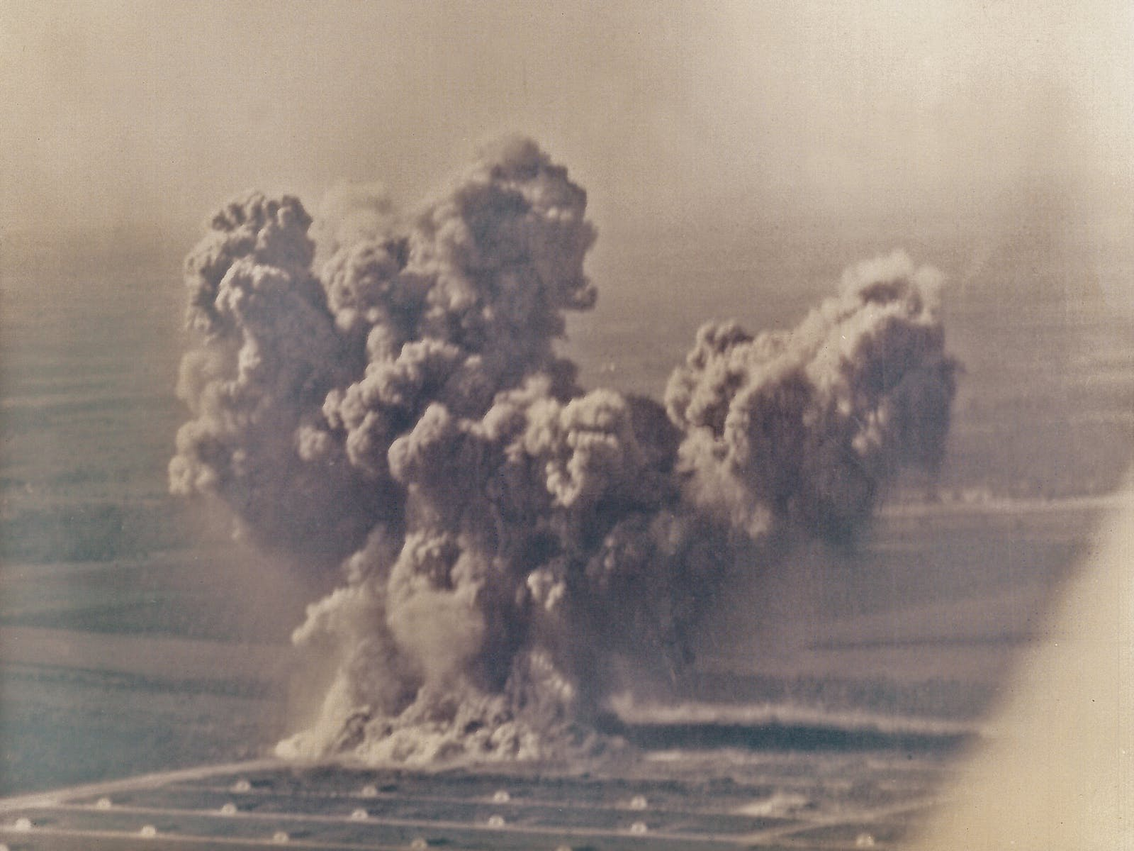 The explosion at Medina Annex, in San Antonio, on November 13, 1963.