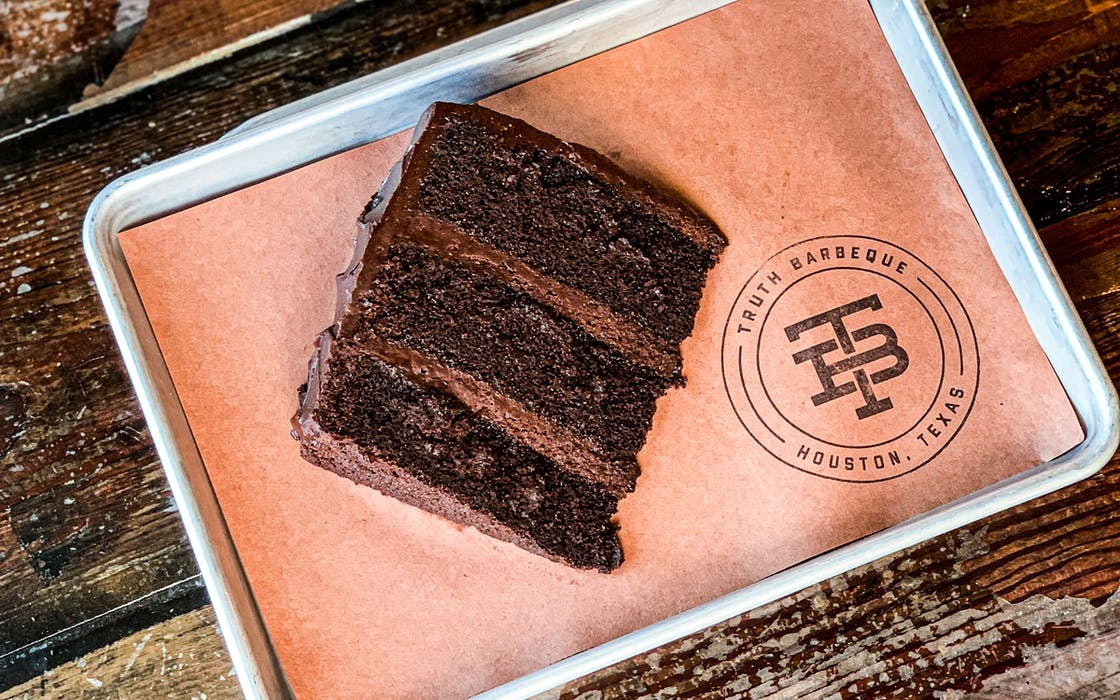 Truth Barbeque's Triple-Layer Chocolate Cake