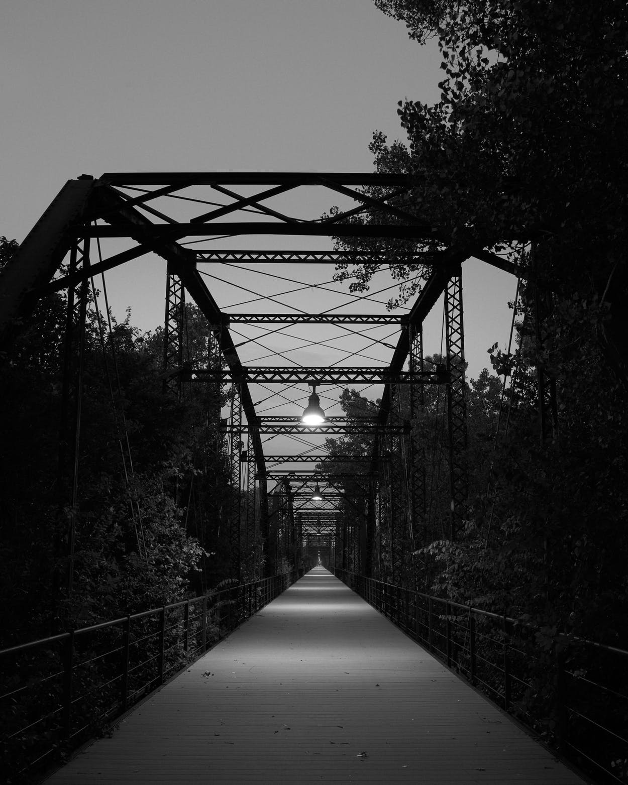 The Walking Bridge, just outside of Canadian and one of the places where Tom was last seen.