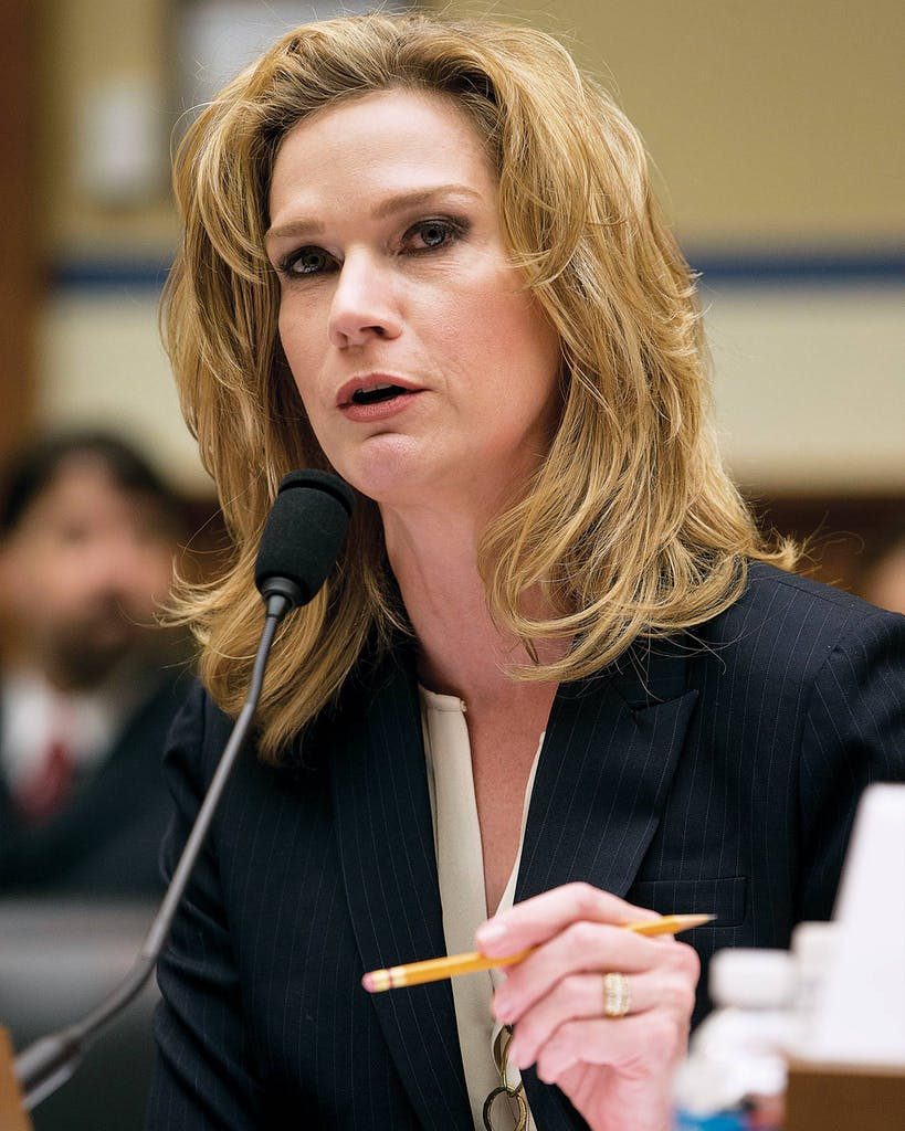 Catherine Engelbrecht, founder of King Street Patriots, testifies on Capitol Hill in Washington on February 6, 2014.