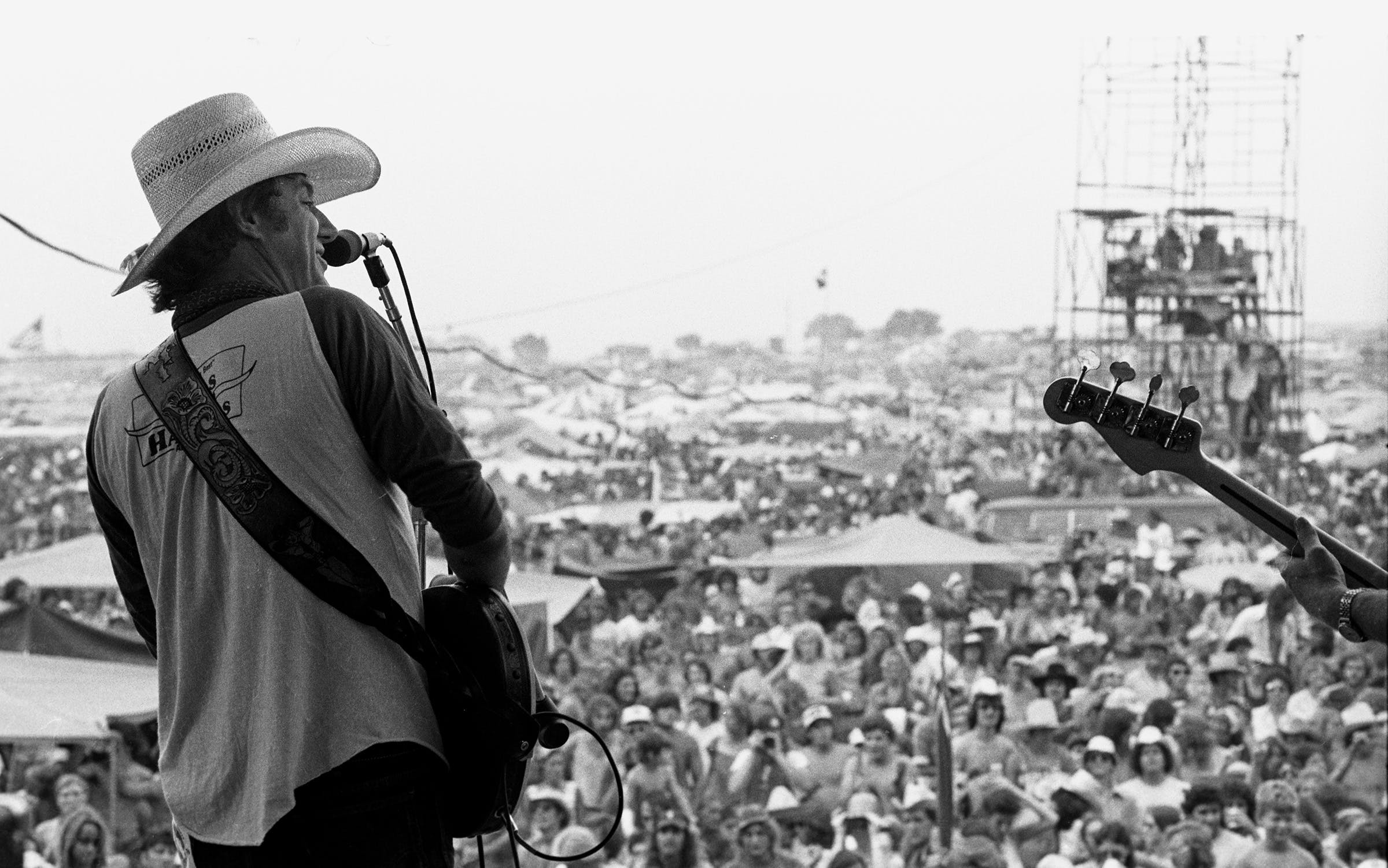 Jerry Jeff Walker at Willie's 4th of July Picnic in Gonzales, Texas, 1976.