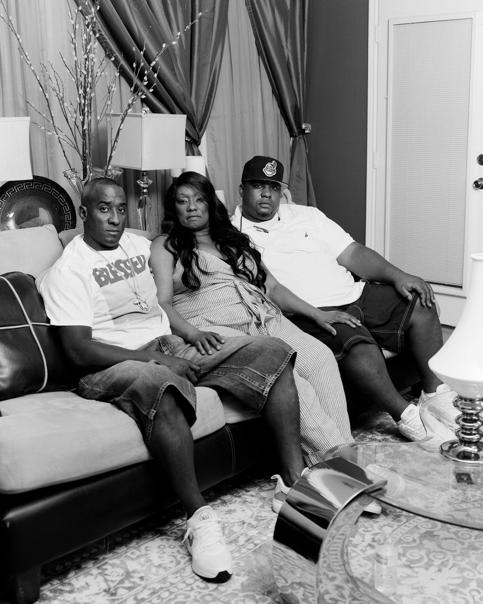 Lydell, Donna, and Alonzo in Houston on September 1, 2020.