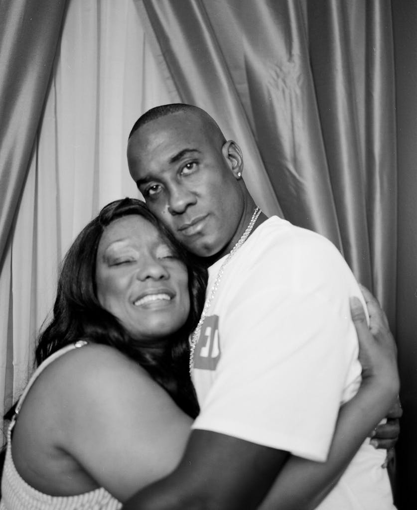 Lydell Grant with his mom Donna Poe at their home in Houston on September 1, 2020.