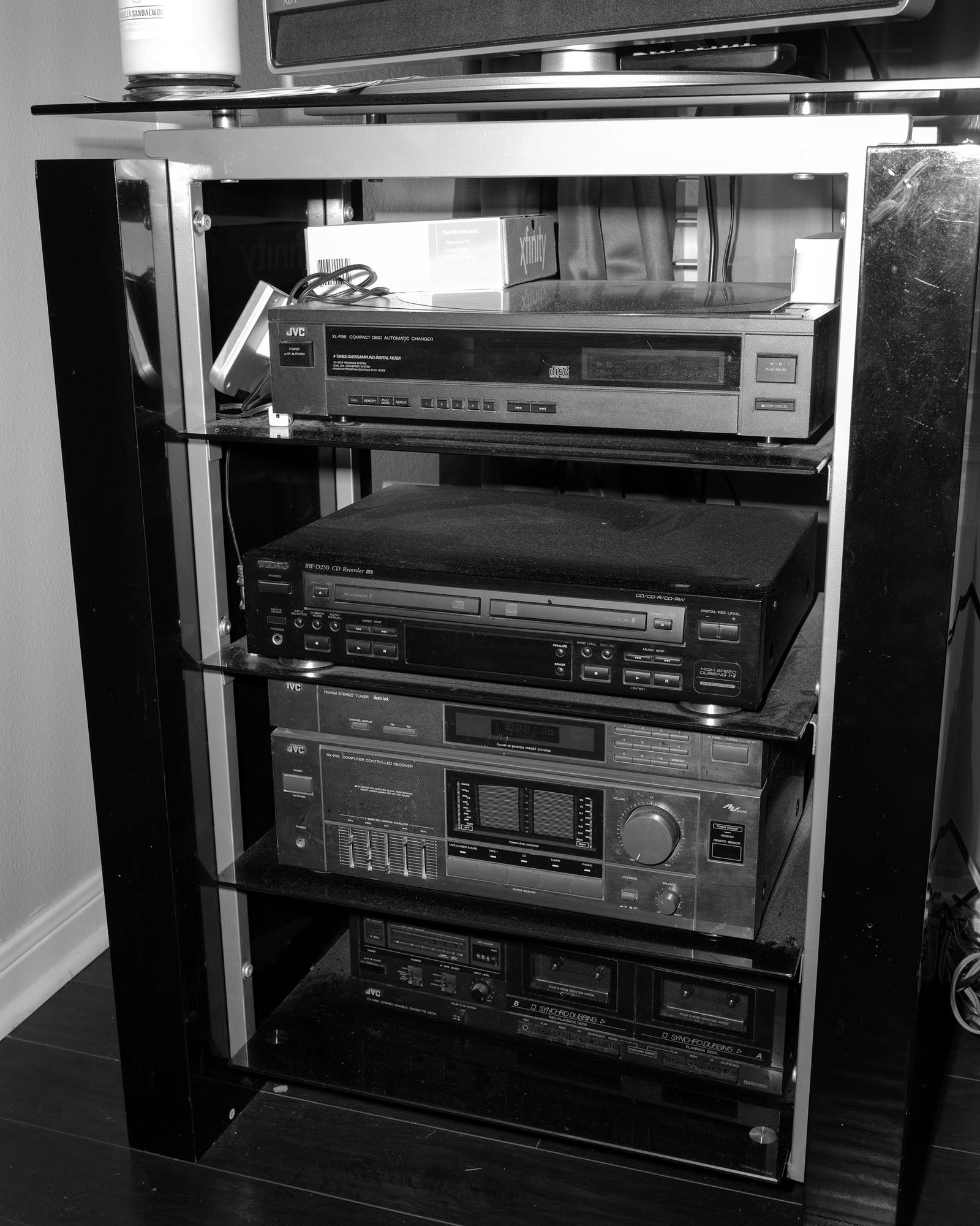 Lydell's entertainment/sound system at his home in Houston on September 1, 2020.