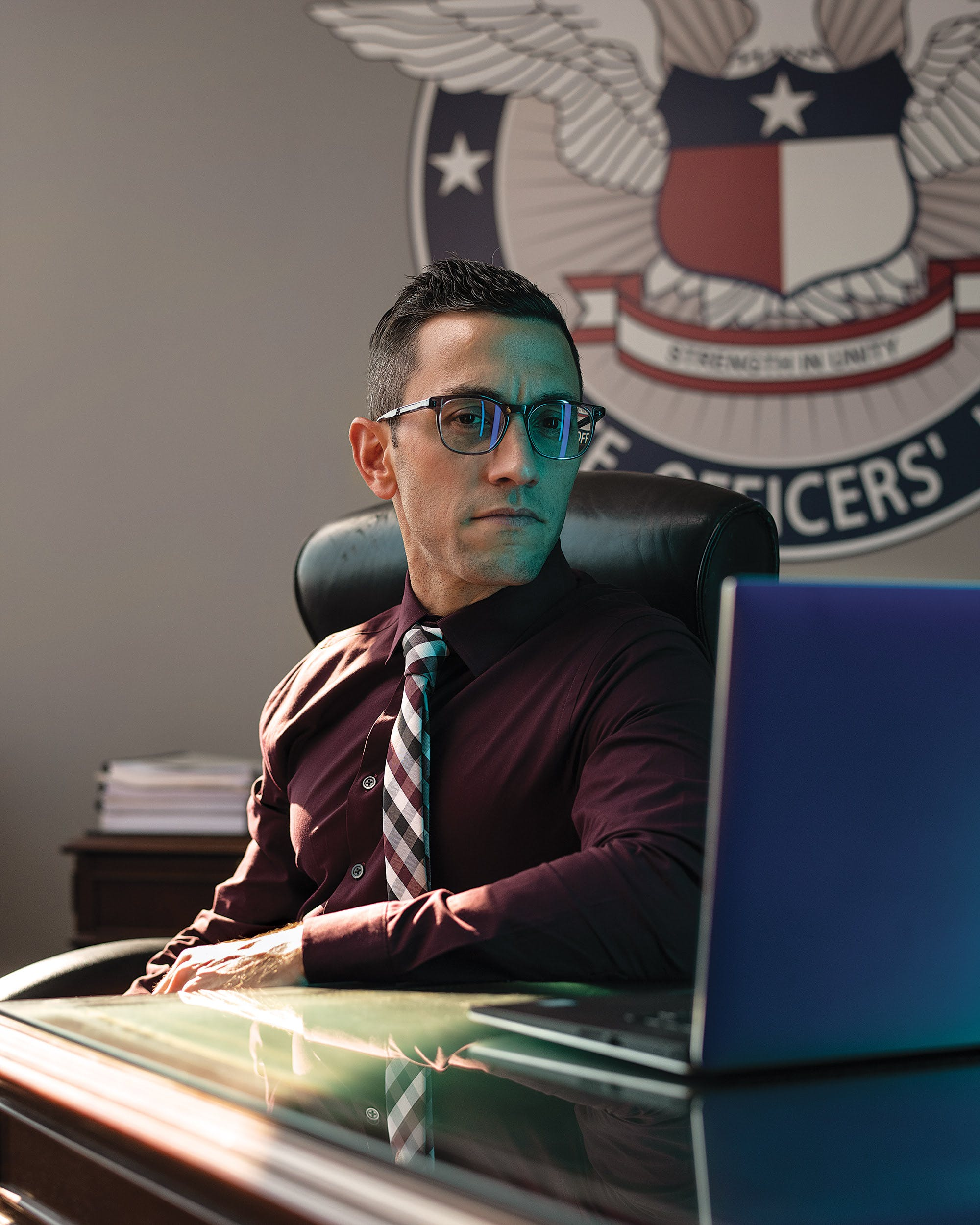 Joe Gamaldi in his office at the Houston Police Officers' Union.