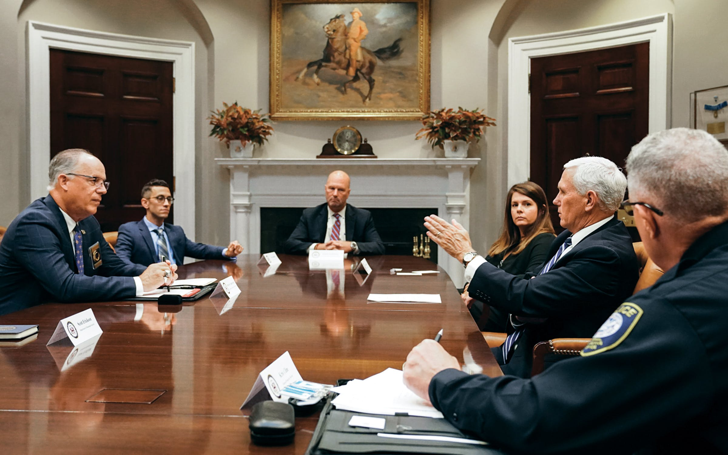 Gamaldi meeting with Vice President Mike Pence.