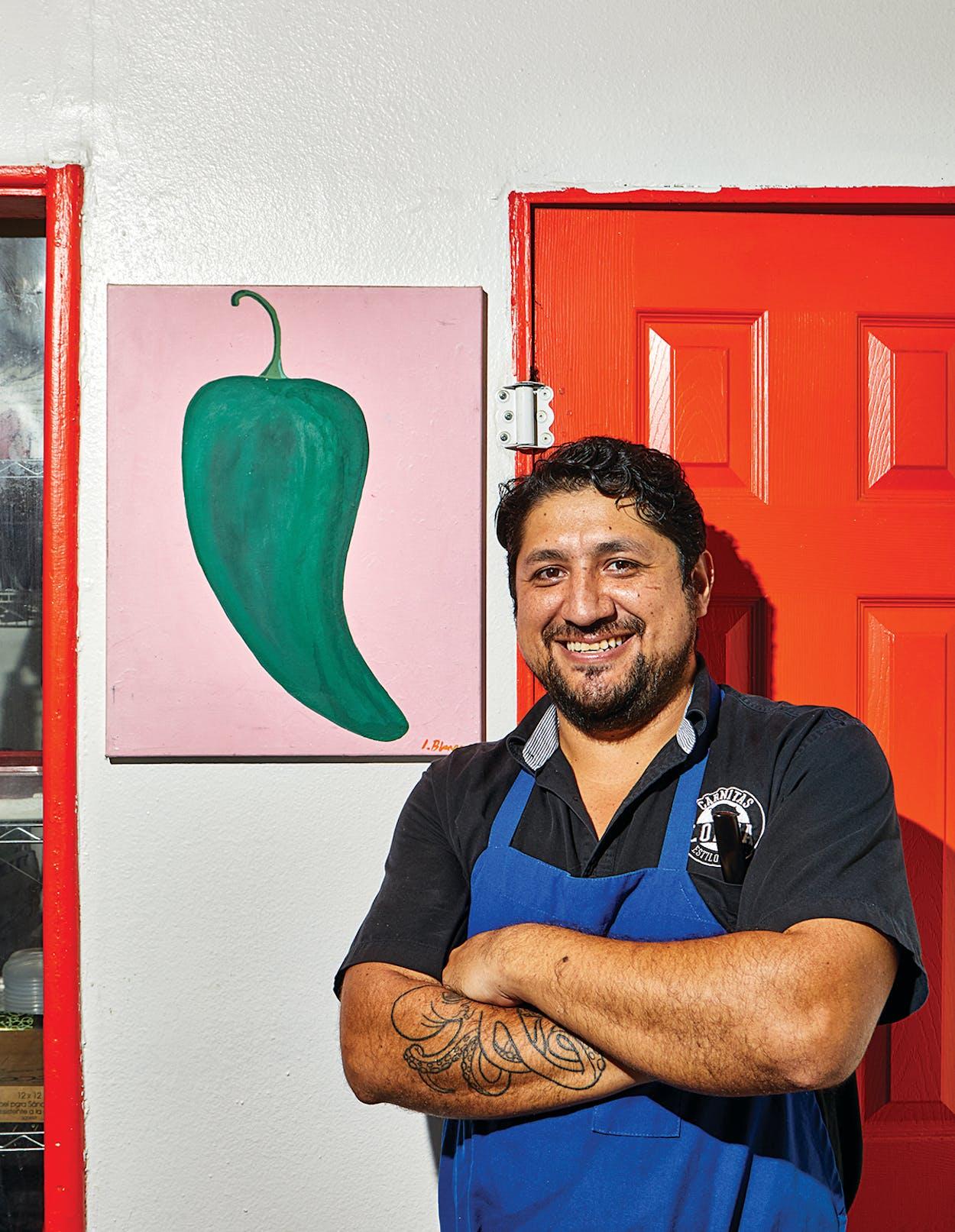 Alejandro Paredes at Carnitas Lonja, in San Antonio, on October 20, 2020.