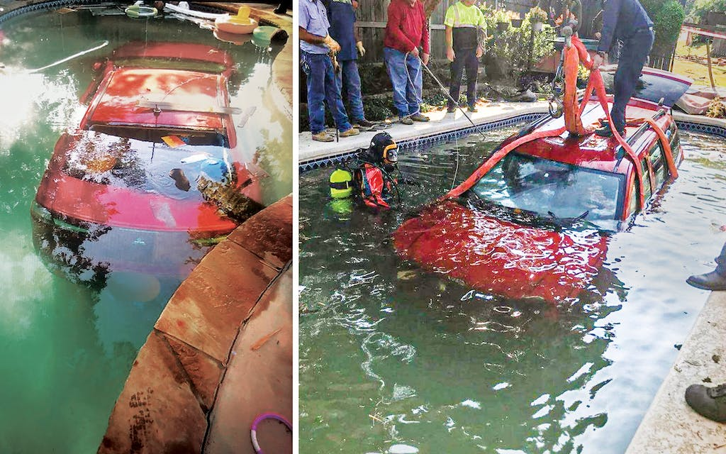 Two separate cars crashed into residential pools in Arlington