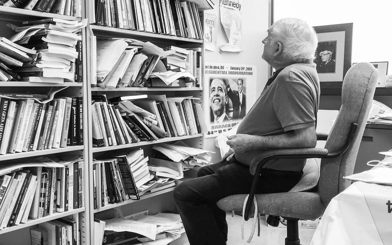 Professor Richard Murray in his office.
