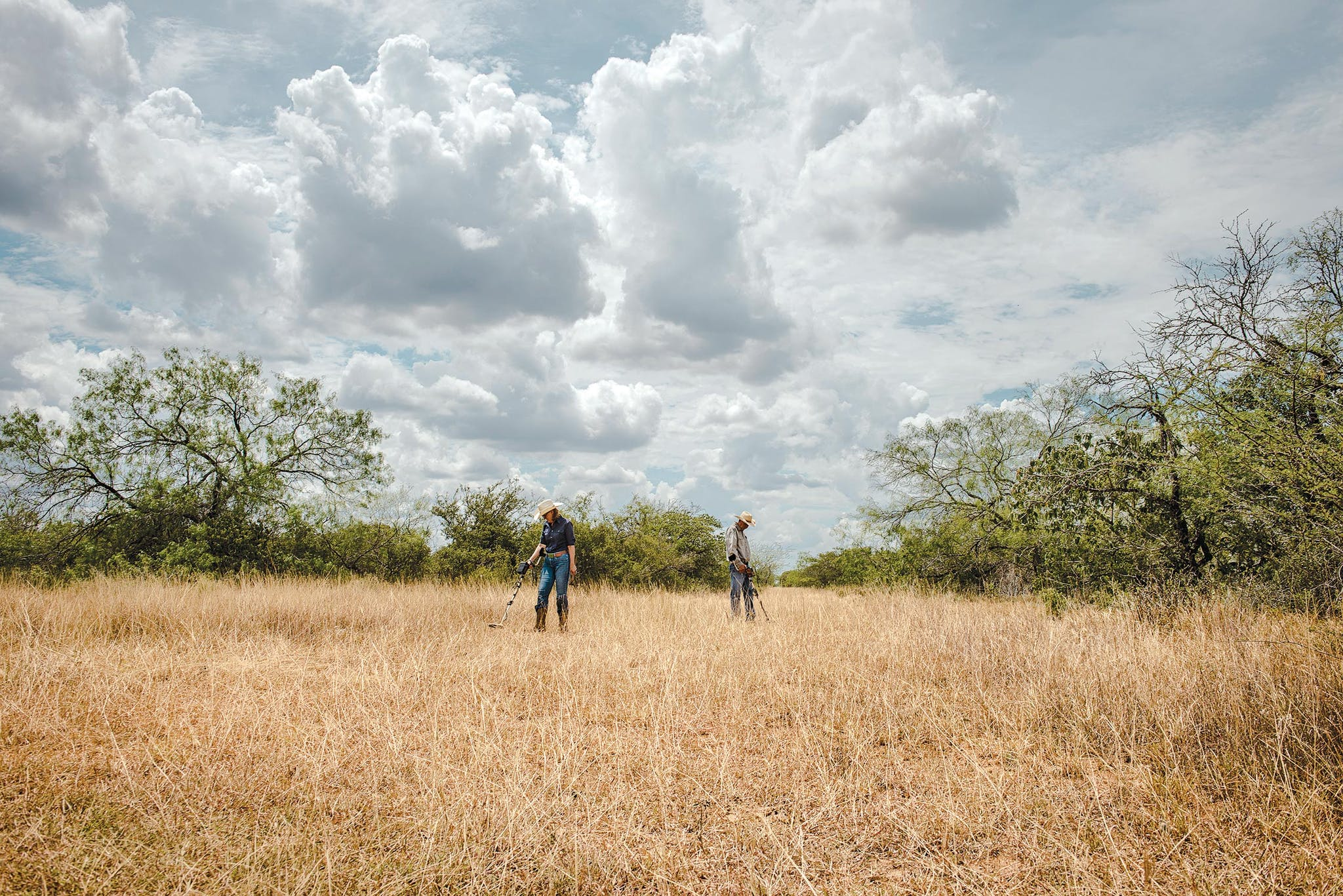 Writer Melissa Guerra and her husband search for relics on their ranch in Hidalgo County.