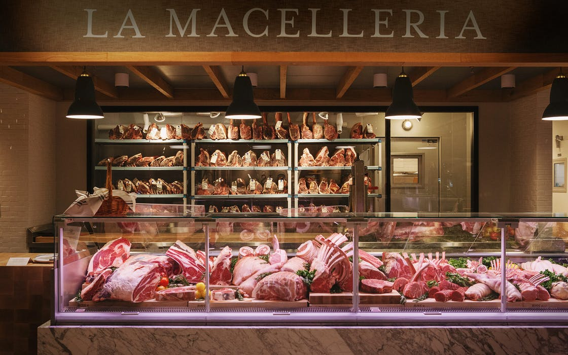 meat counter at Eataly in Dallas