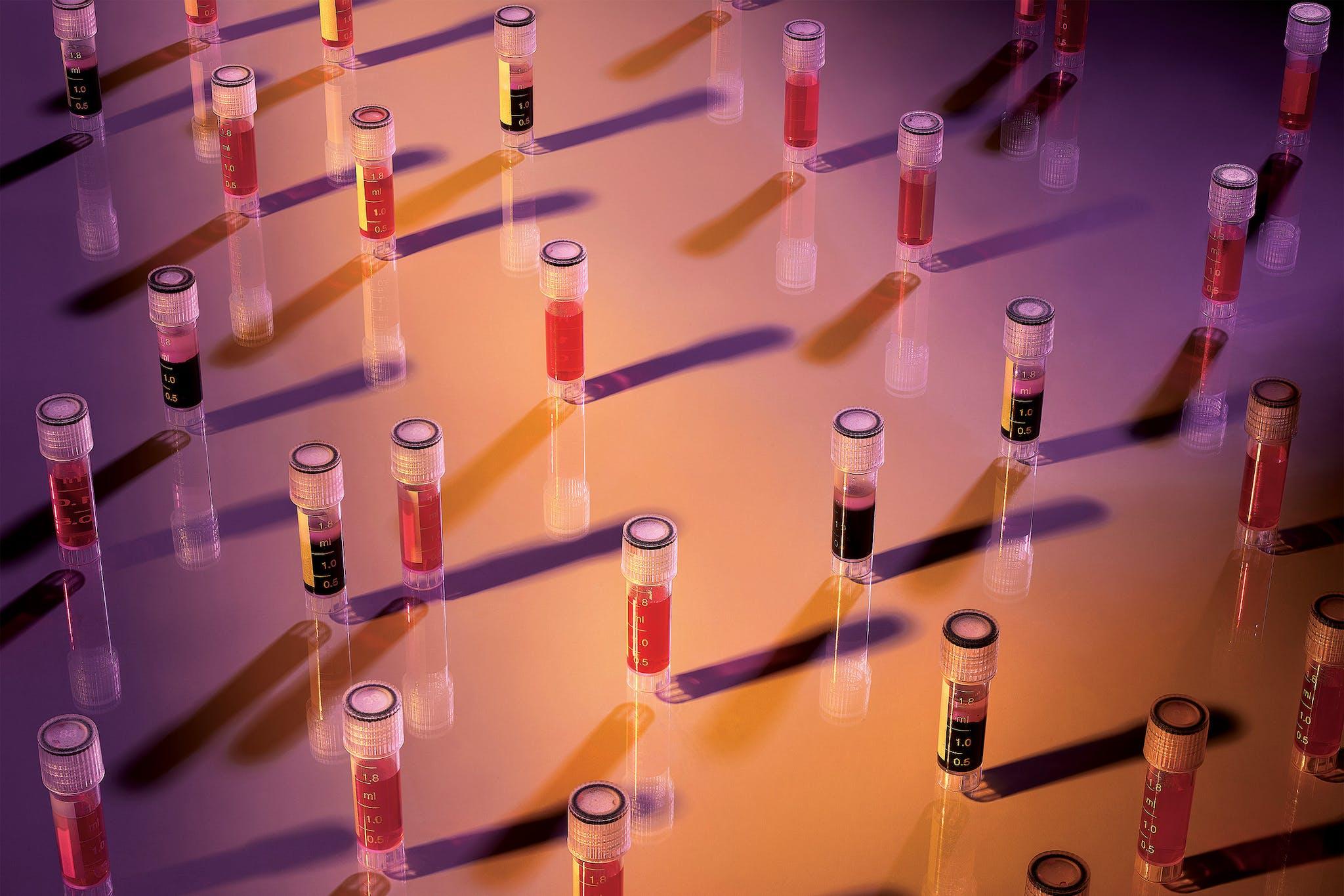 A conceptual photograph depicting stem cell treatments.