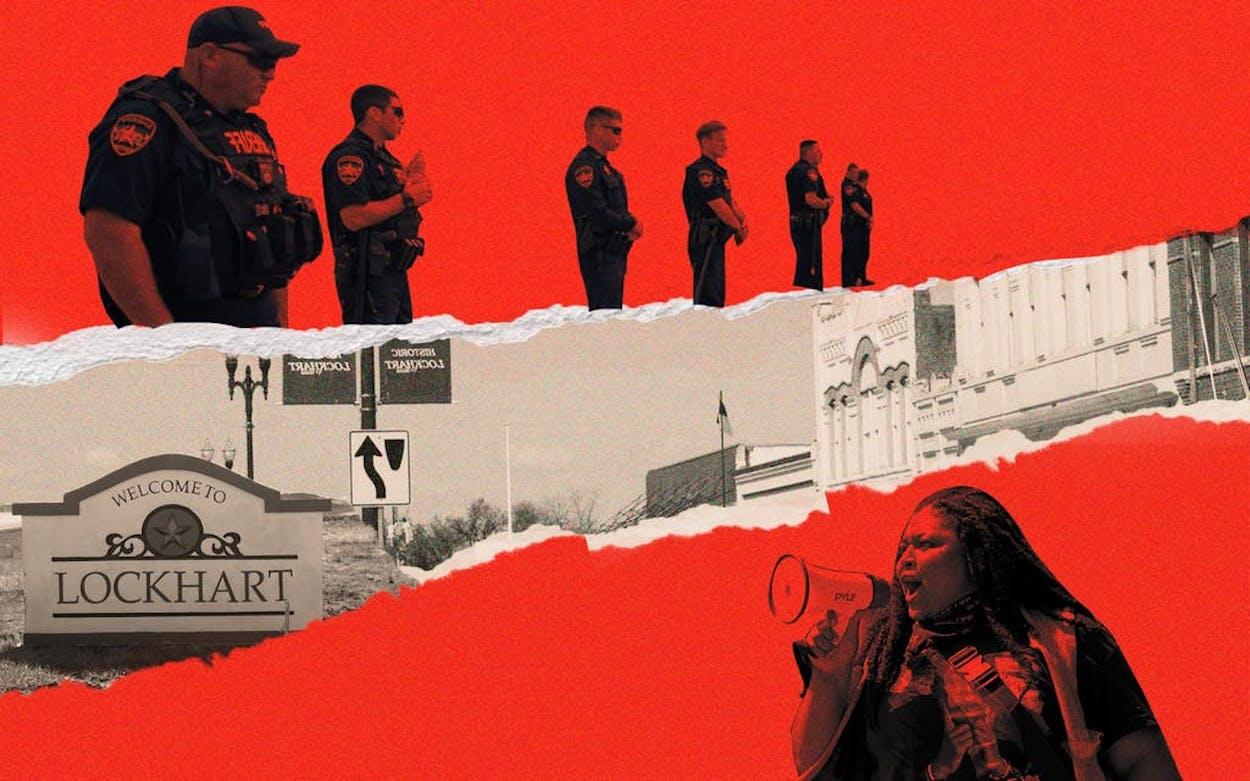 Lockhart protests