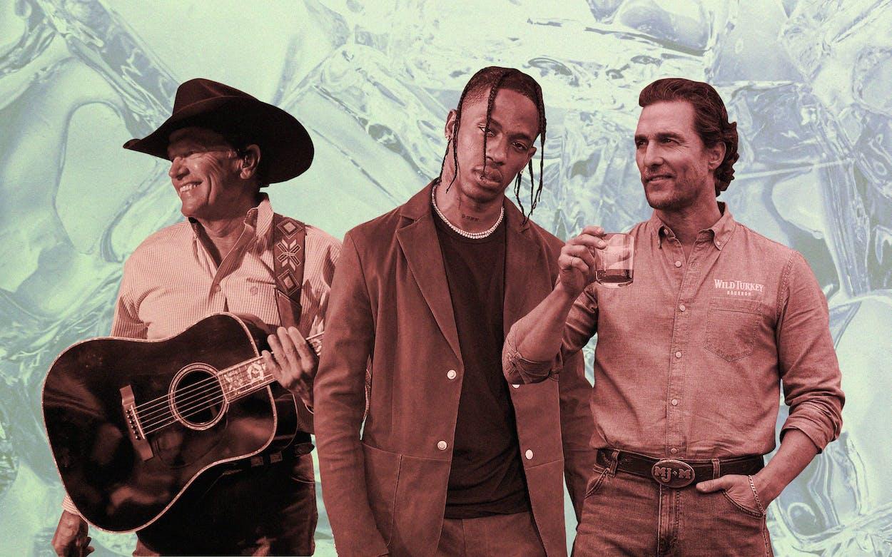 George Strait, Travis Scott and Matthew McConaughey