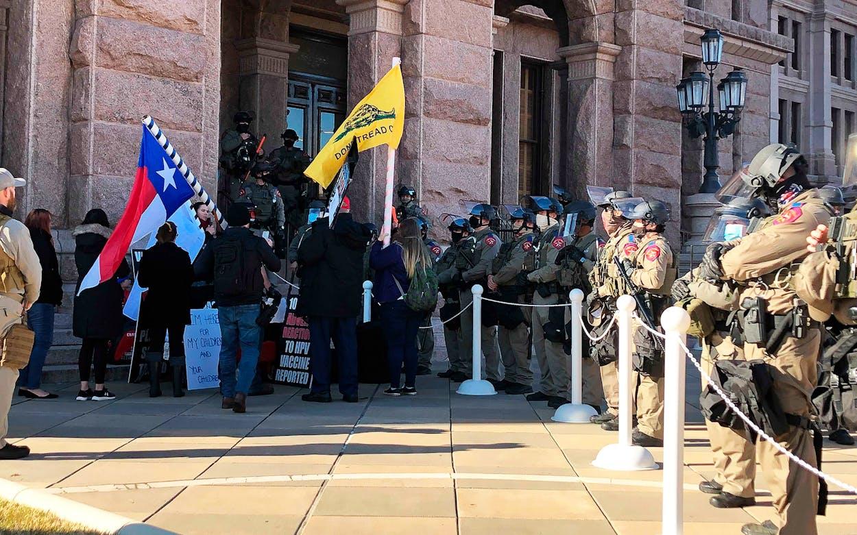 texas legislature covid protesters