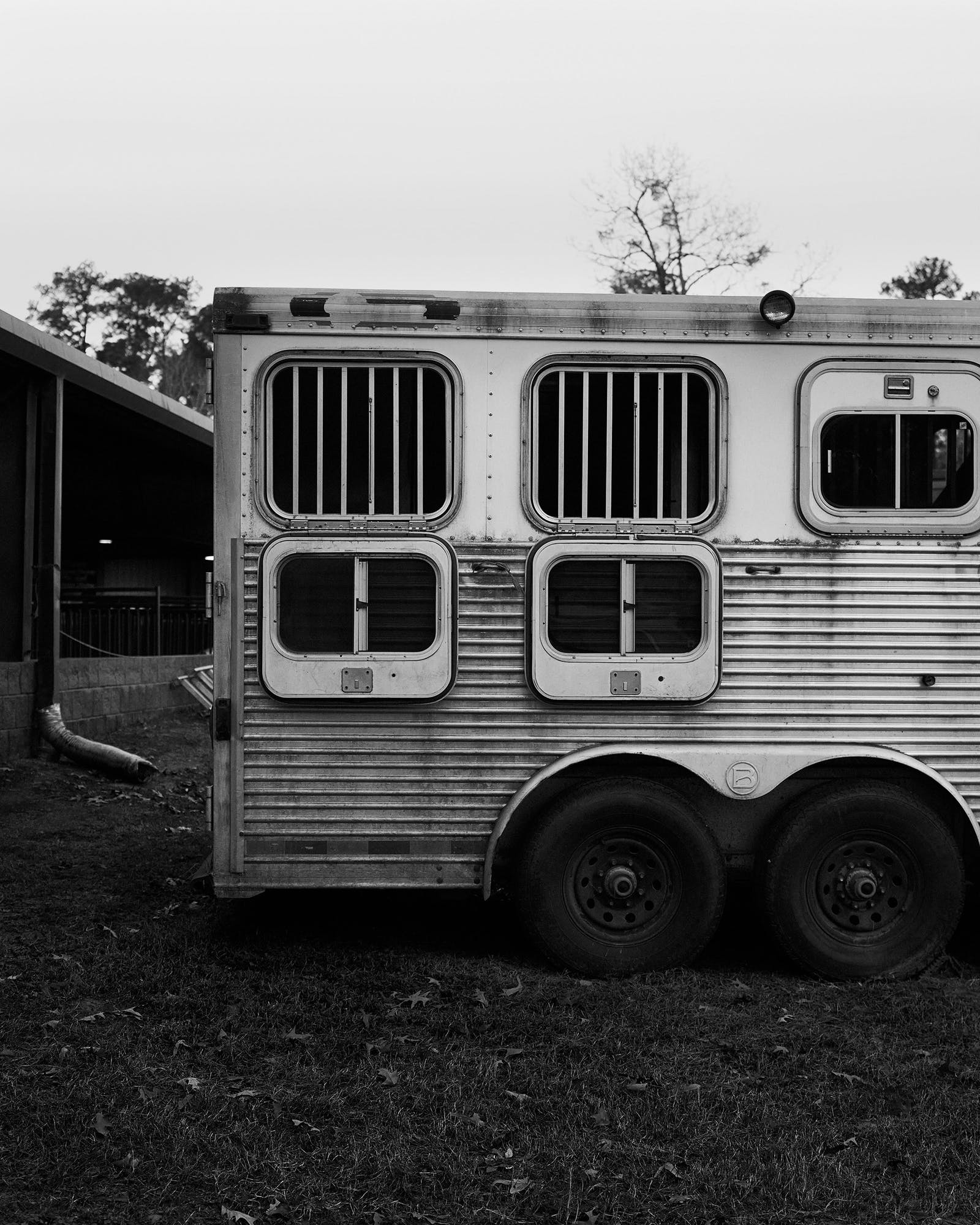 A trailer at Josey Ranch.