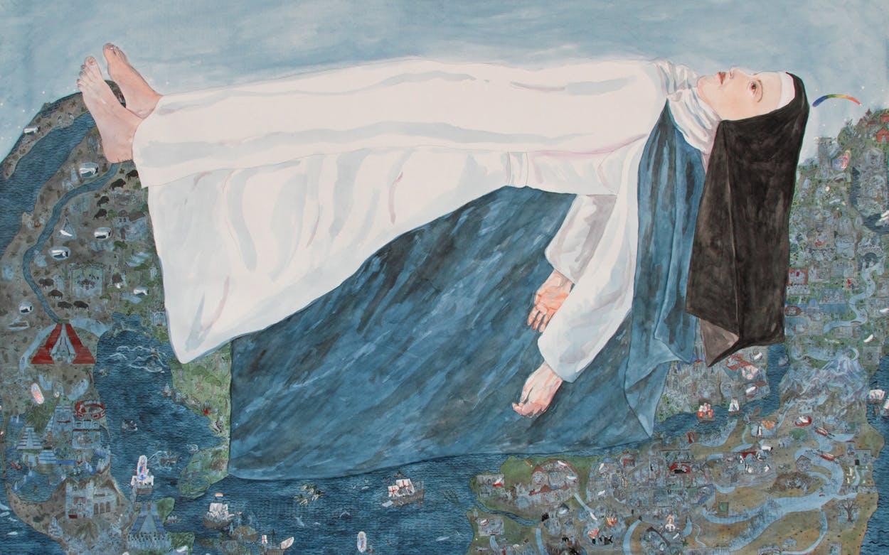 Maria of Agreda, Jennifer May Reiland painting