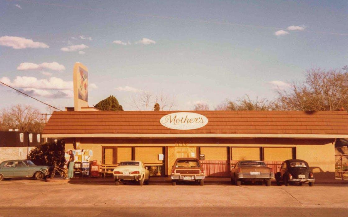 Mother's Cafe, in Austin, in 1981.