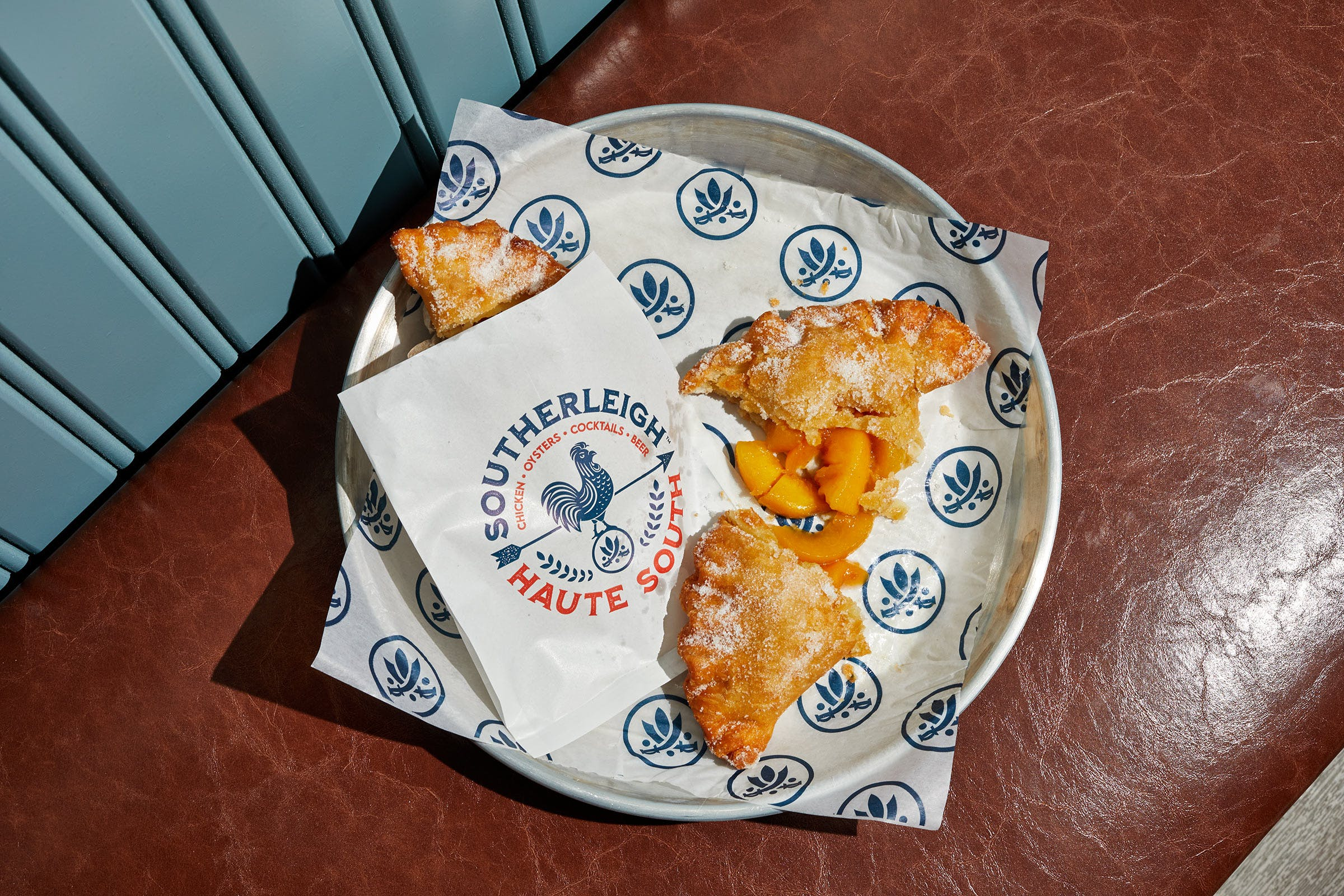 Peach hand pies at Southerleigh Haute South in San Antonio.