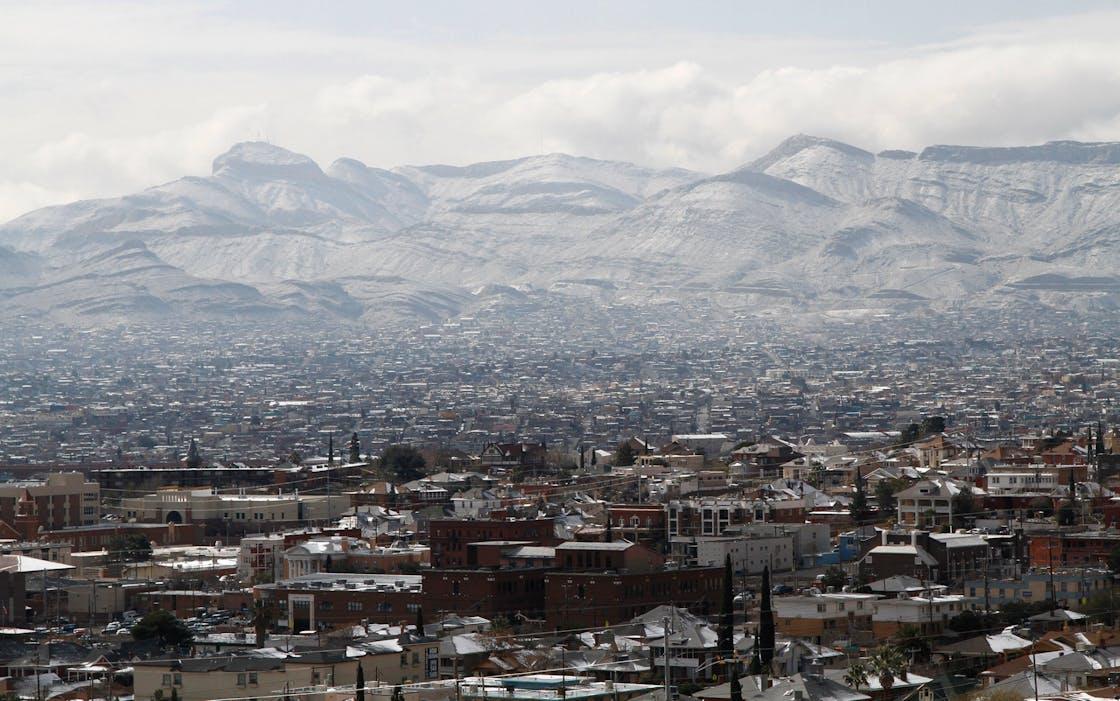 El Paso in snow.