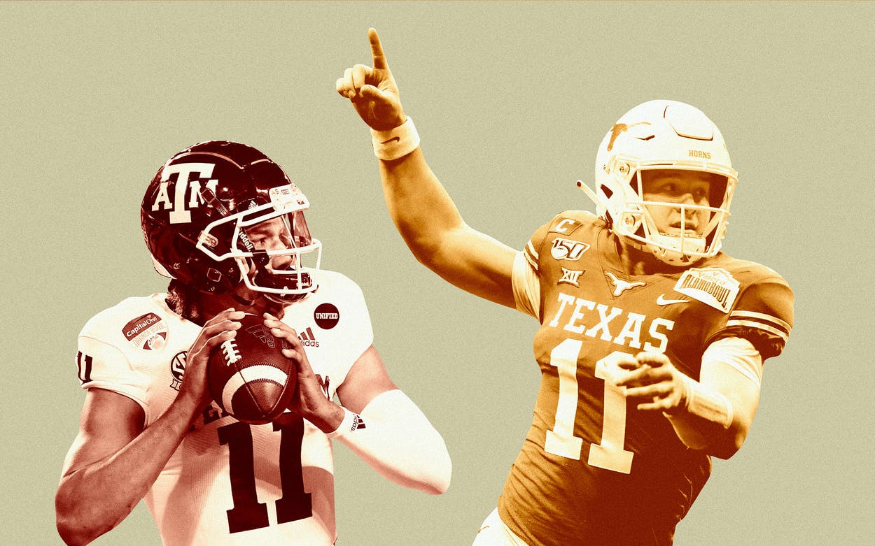 Sam Ehlinger and Kellen Mond Texas Football
