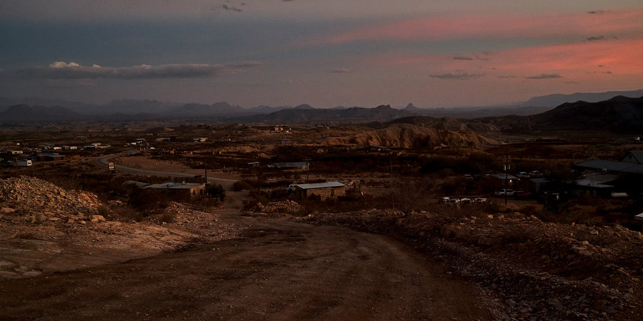 Terlingua, as seen from outside the Starlight Theatre, in January 2021.