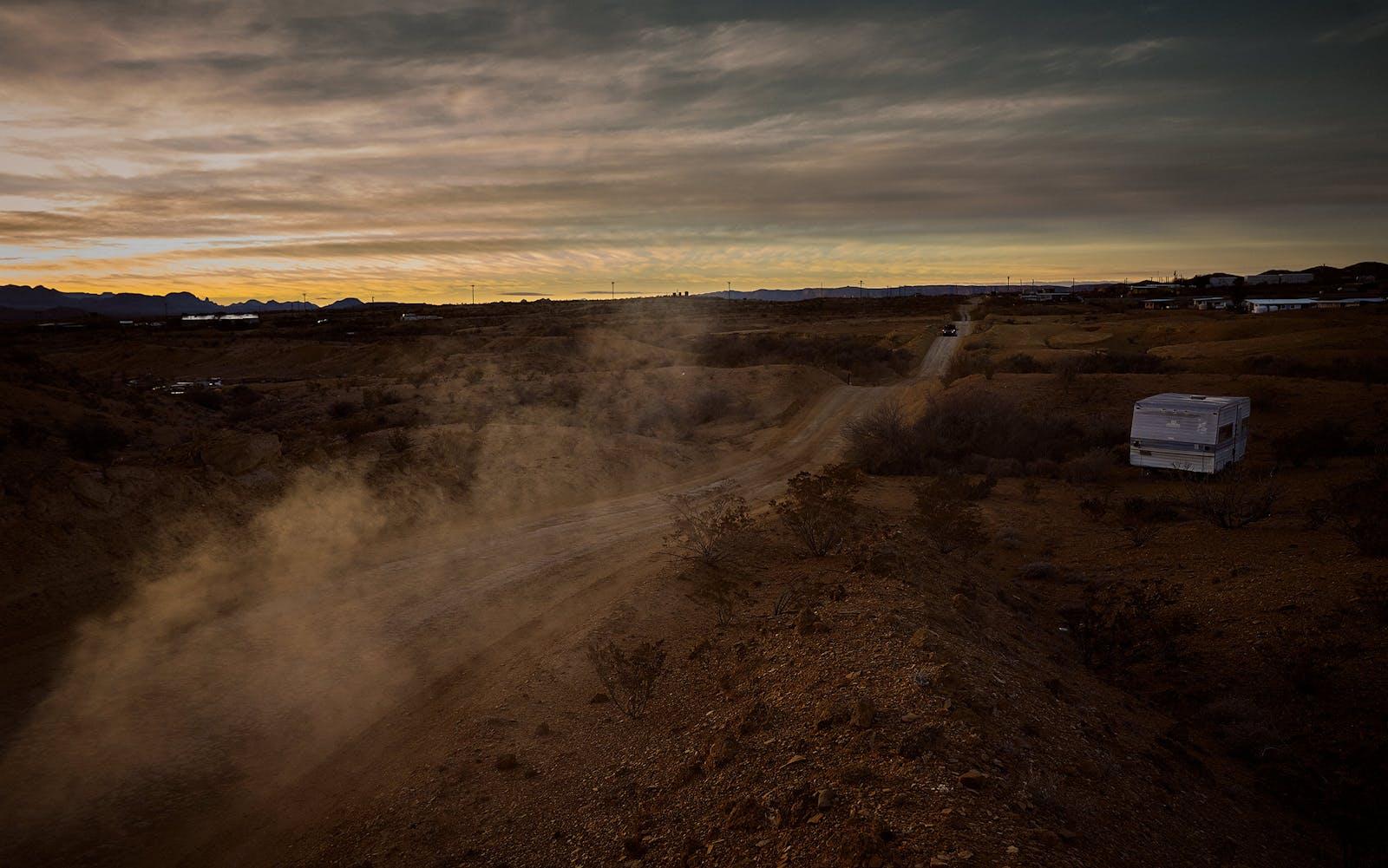 A dirt road near Terlingua, Texas.
