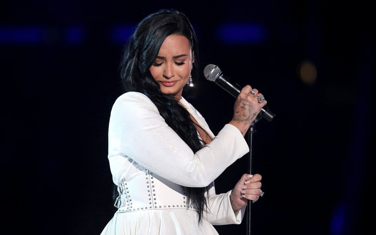 Demi Lovato performs at the 62nd annual Grammy Awards on Jan. 26, 2020, in Los Angeles.