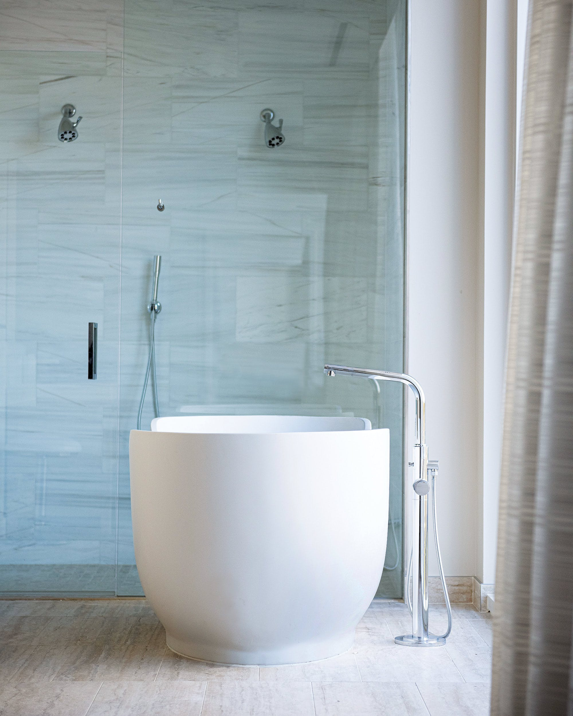 A soaking tub in a Hall Arts Hotel suite.