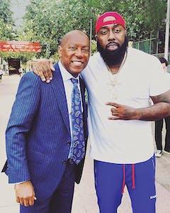Trae with Houston mayor Sylvester Turner.