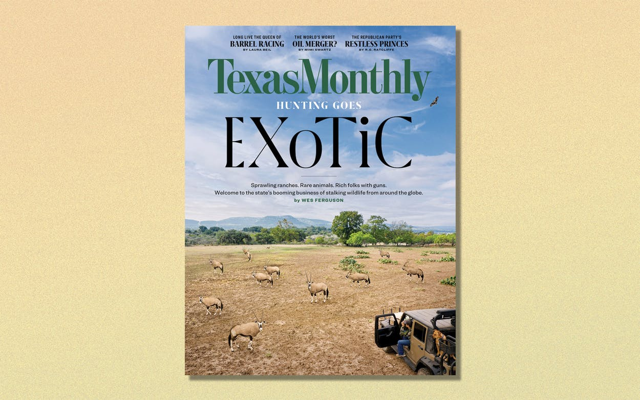 The February issue cover of Texas Monthly