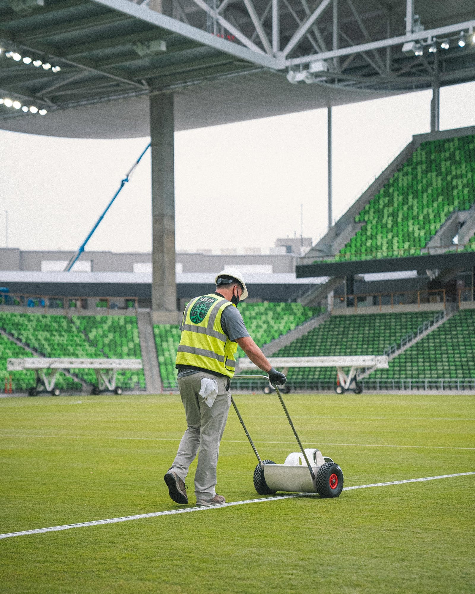 prepping the Austin FC stadium