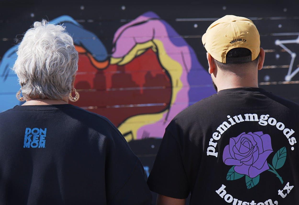 Donkeeboy and Donkeemom, muralists in Houston