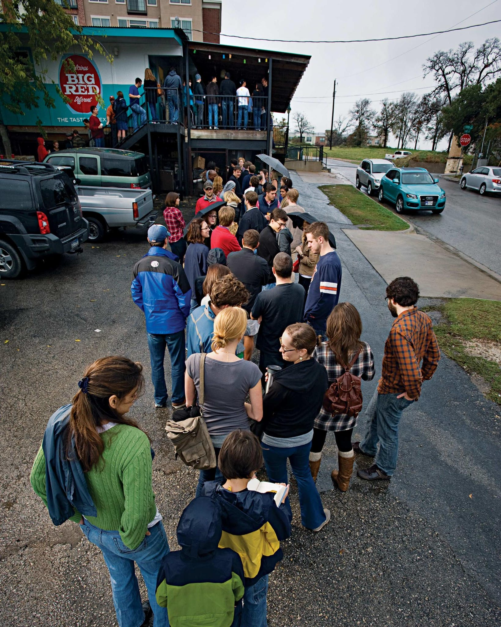 The line at Franklin's.