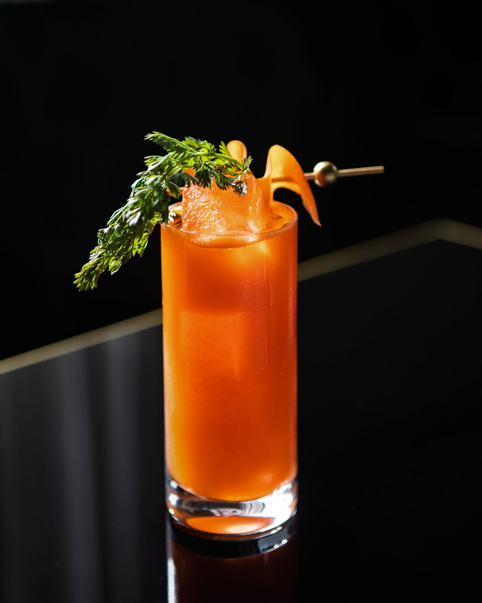 Inventive cocktails are garnished with herbs from the hotel's new kitchen garden and served at the newly expanded bar.